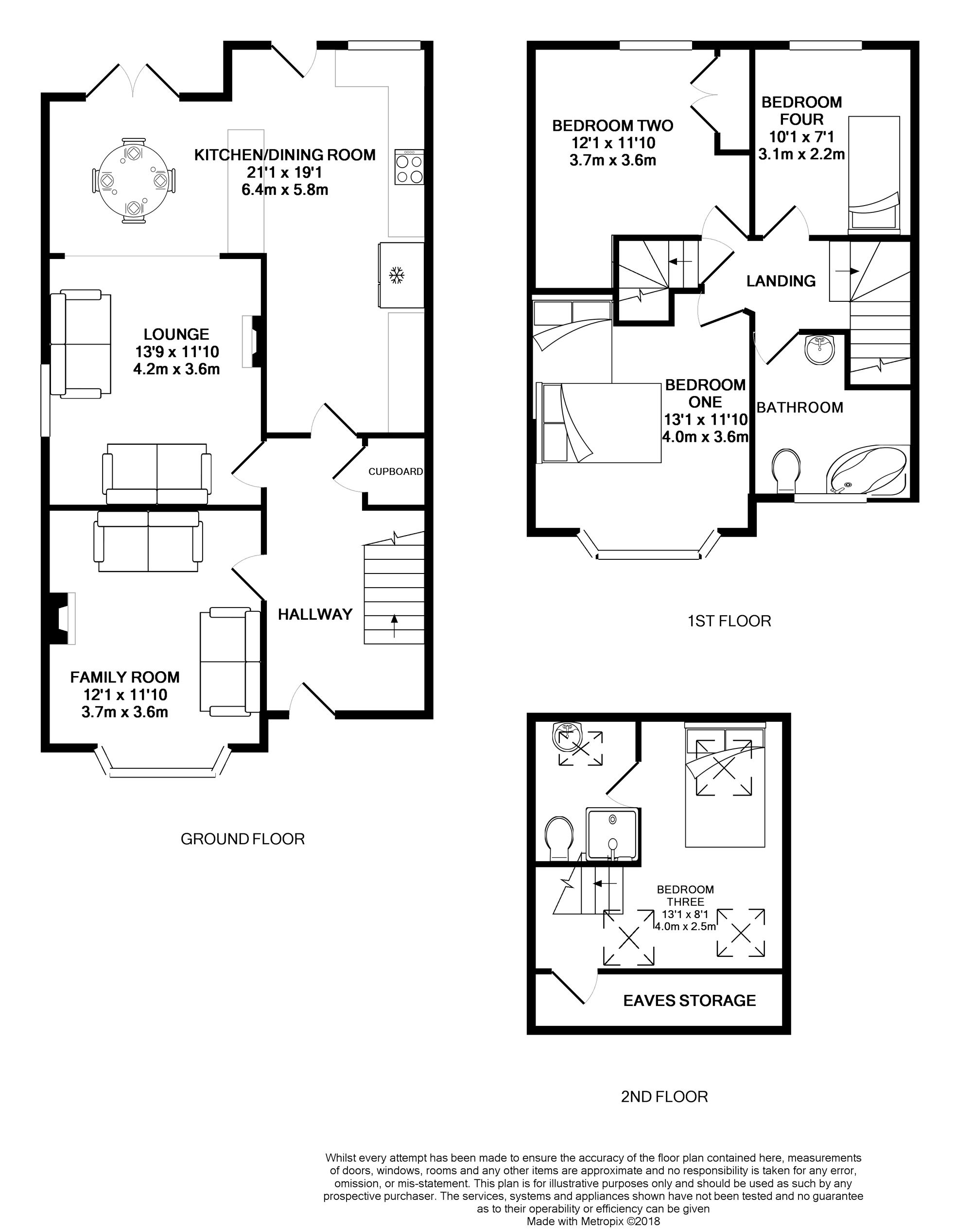 Floorplans For Grovelands Road, Reading, Berkshire