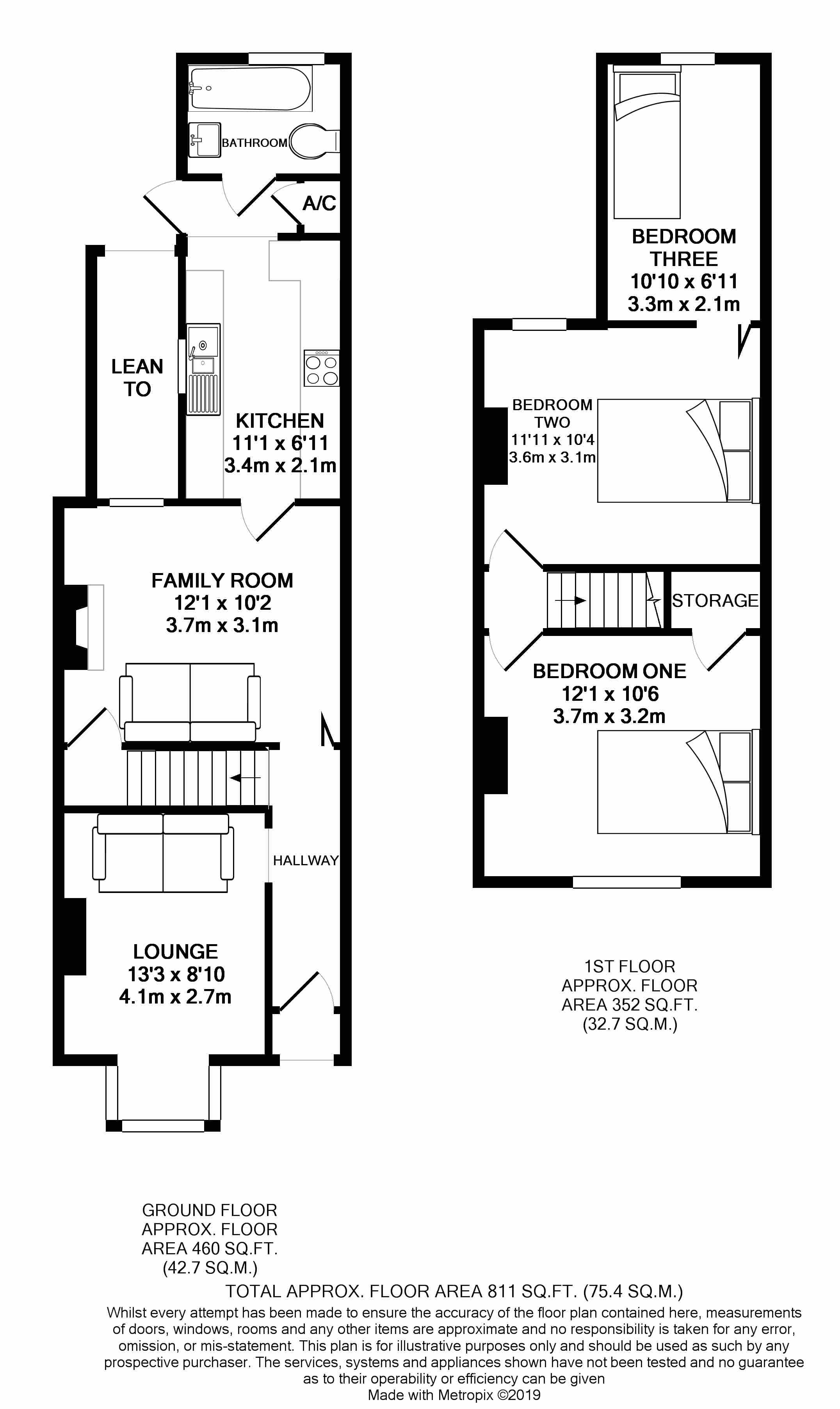 Floorplans For Cranbury Road, Reading, Berkshire