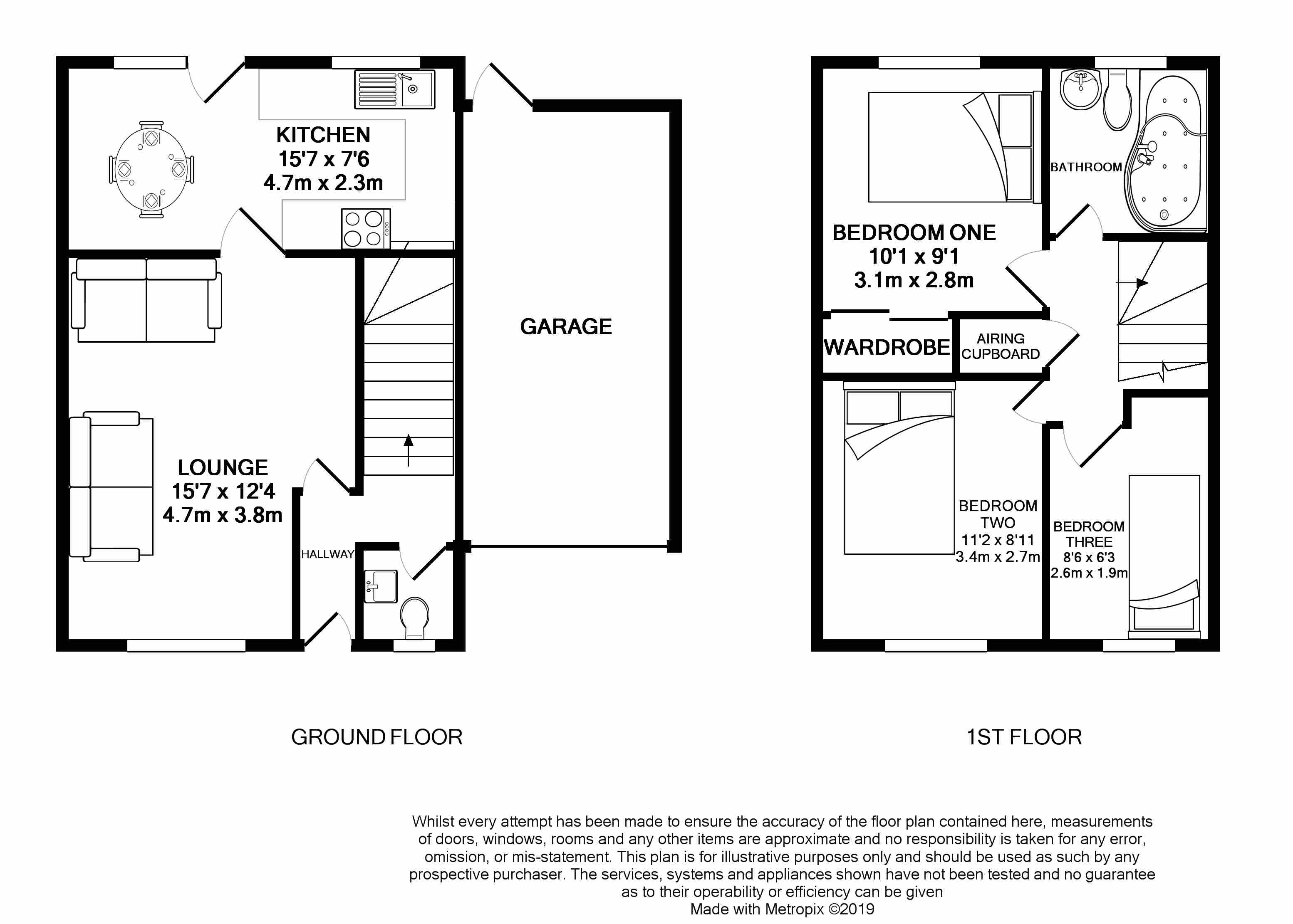 Floorplans For Calcot, Reading, Berkshire
