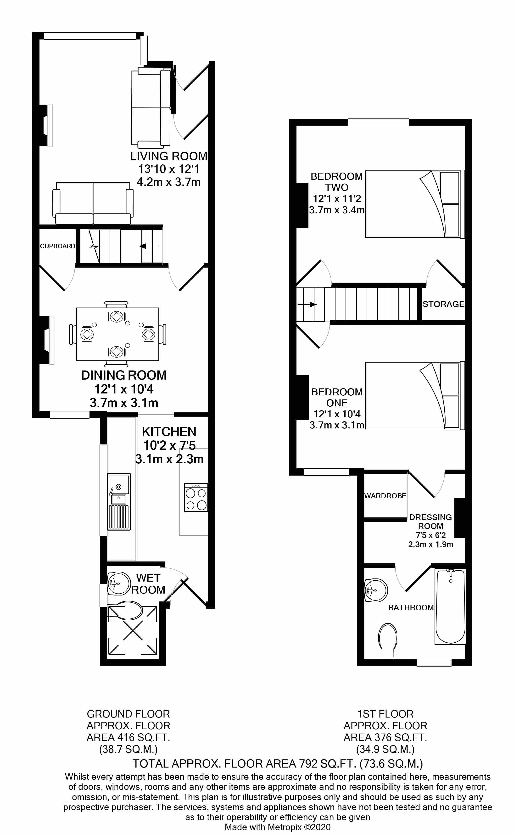 Floorplans For Connaught Road, Reading, Berkshire