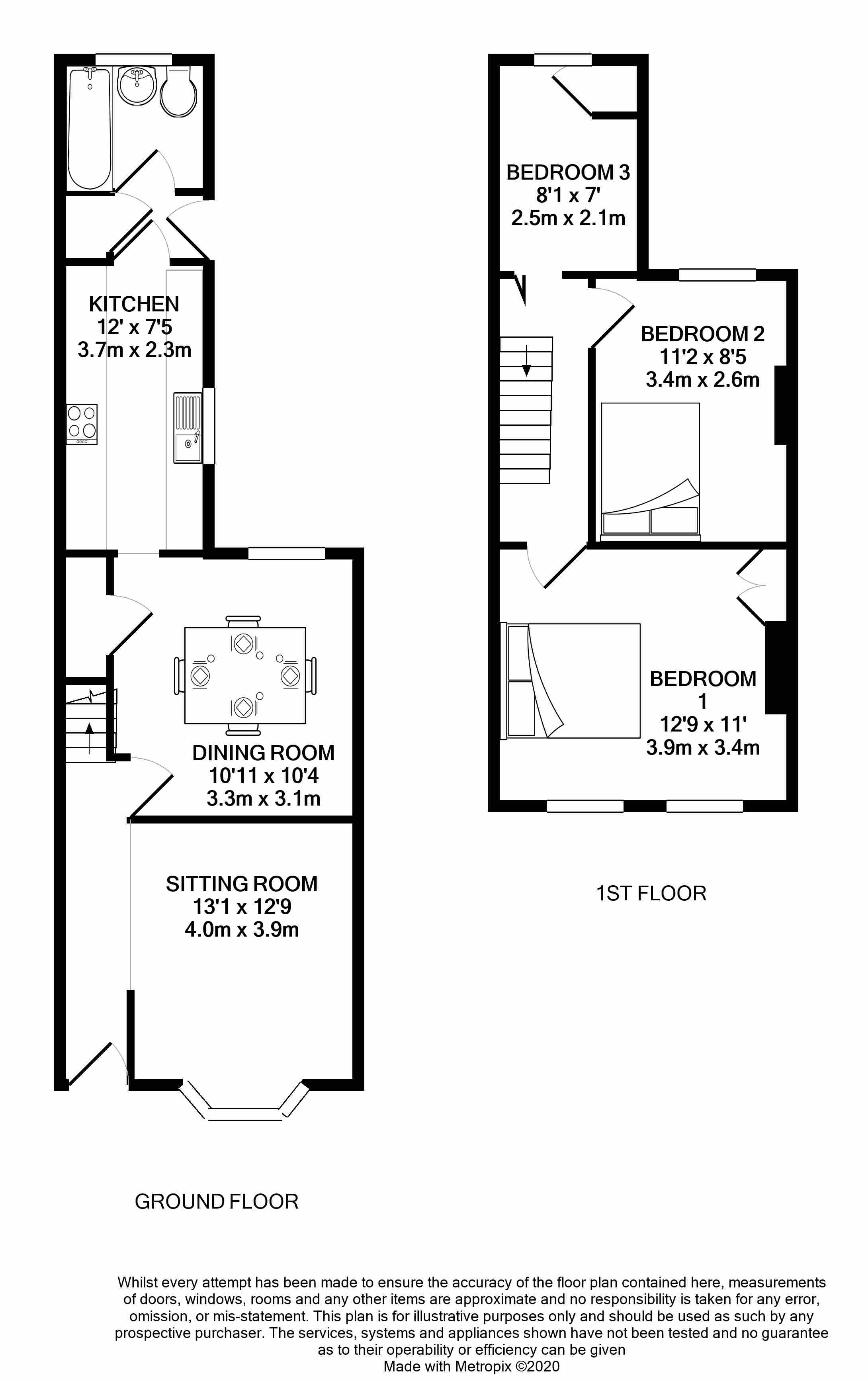 Floorplans For St Georges Road, Reading, Berkshire
